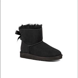 Black UGGS with Bow on the back
